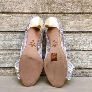 Valentino Shoes - NIB Valentino lace bow peep toe pump size 36